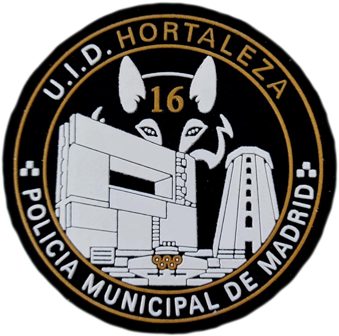 Policía Municipal Madrid UID Hortaleza parche insignia emblema distintivo