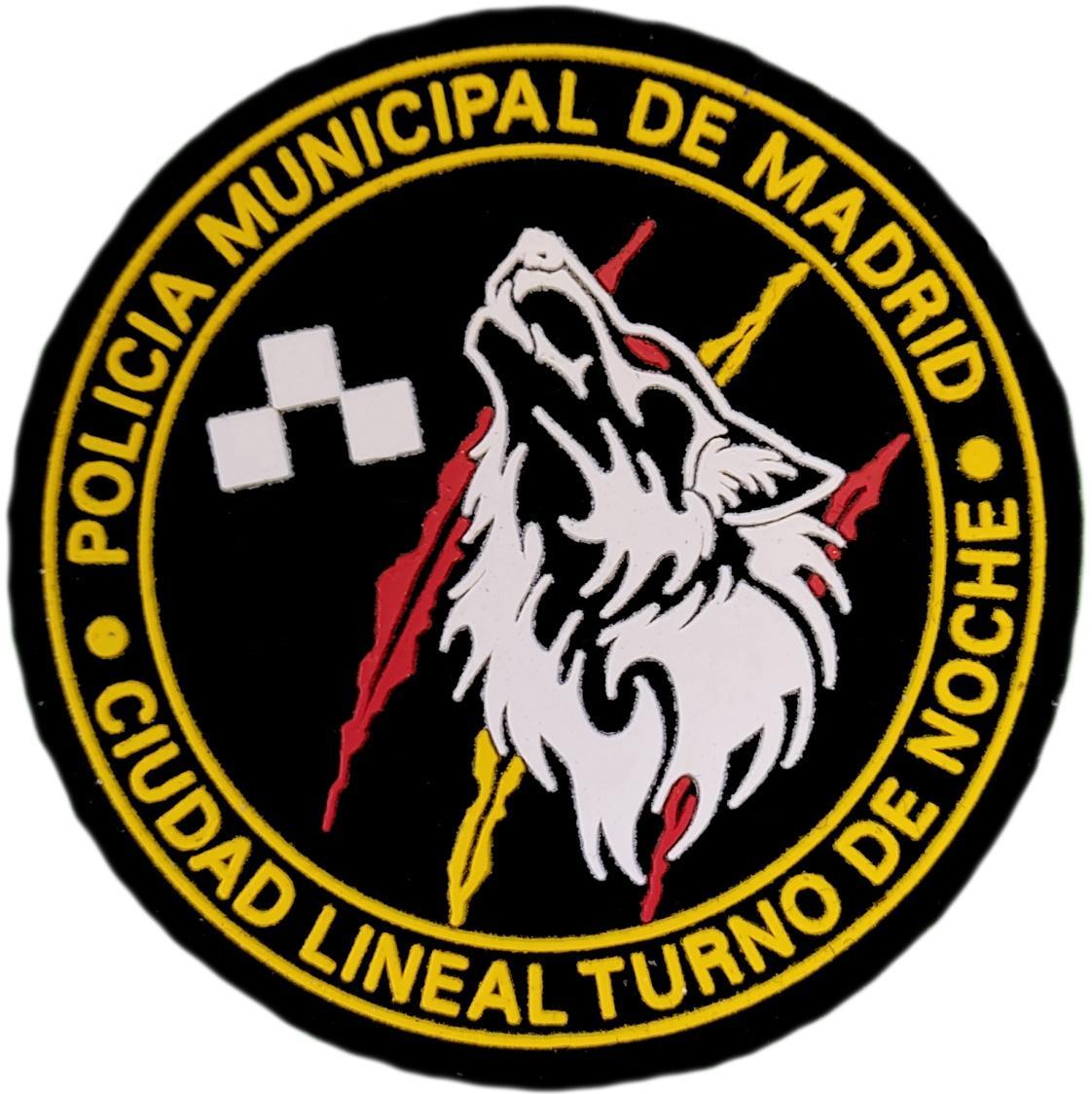 Policía Municipal Madrid Distrito Ciudad Lineal Turno Noche parche insignia emblema distintivo