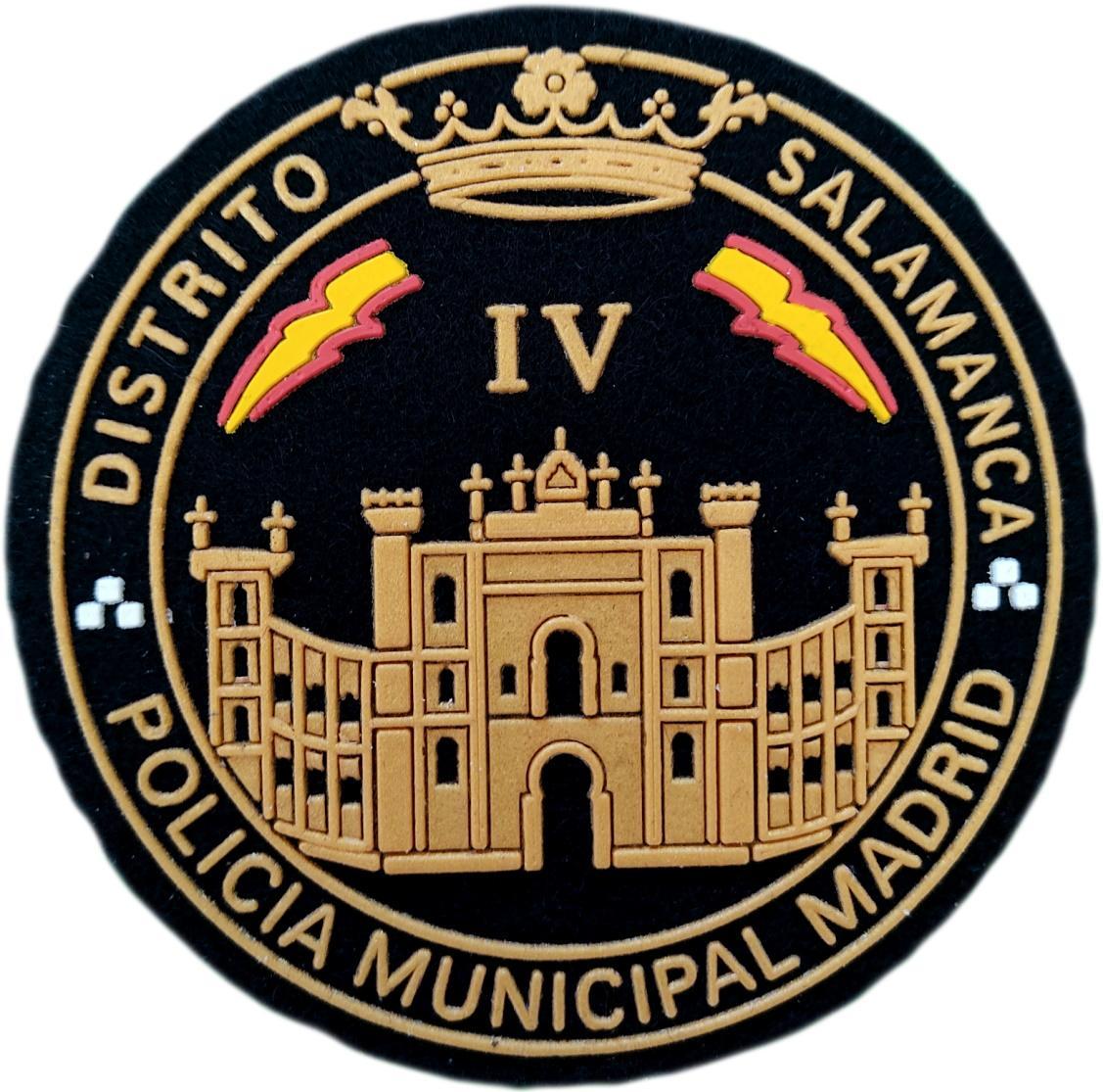 Policía Municipal Madrid Distrito Salamanca parche insignia emblema distintivo
