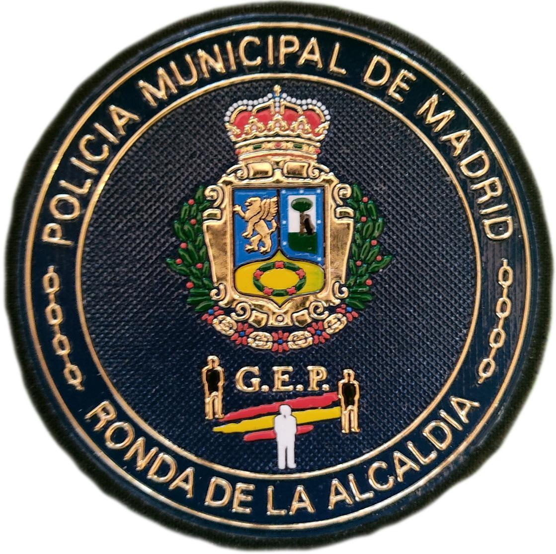 Policía Municipal Madrid Ronda de la Alcaldía Grupo Especial de Protección GEP parche insignia emblema distintivo