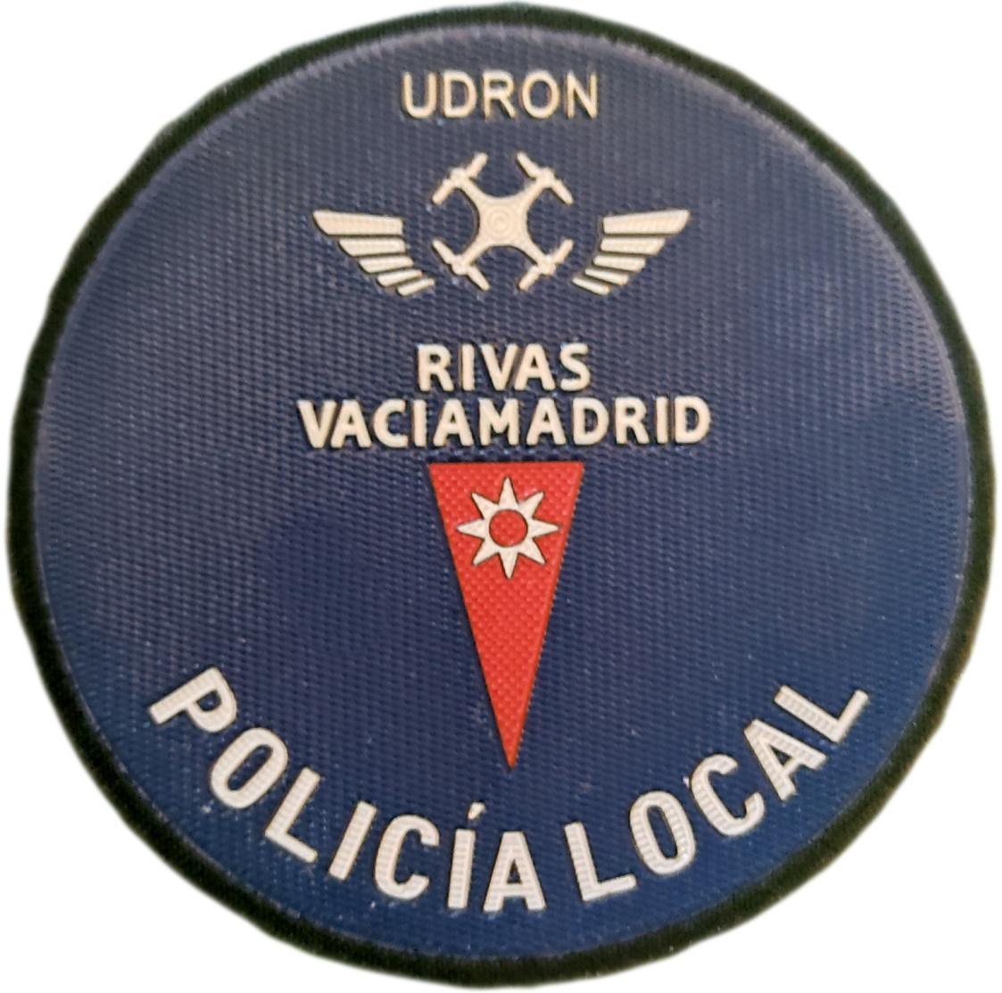 Policía Local Rivas Vaciamadrid Unidad Dron parche insignia emblema distintivo
