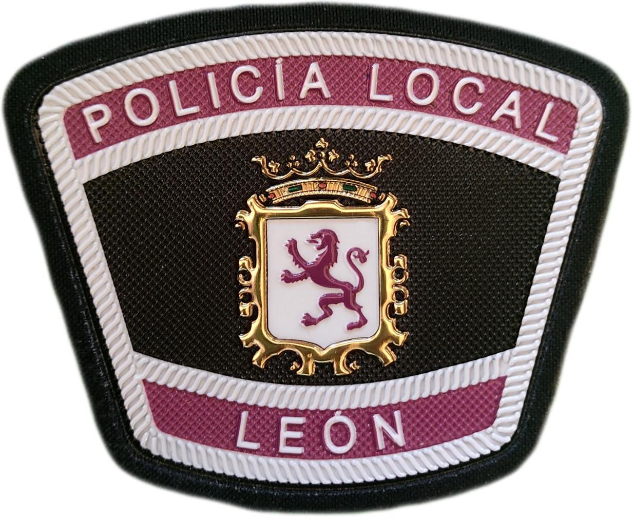 Policía Local León parche insignia emblema distintivo