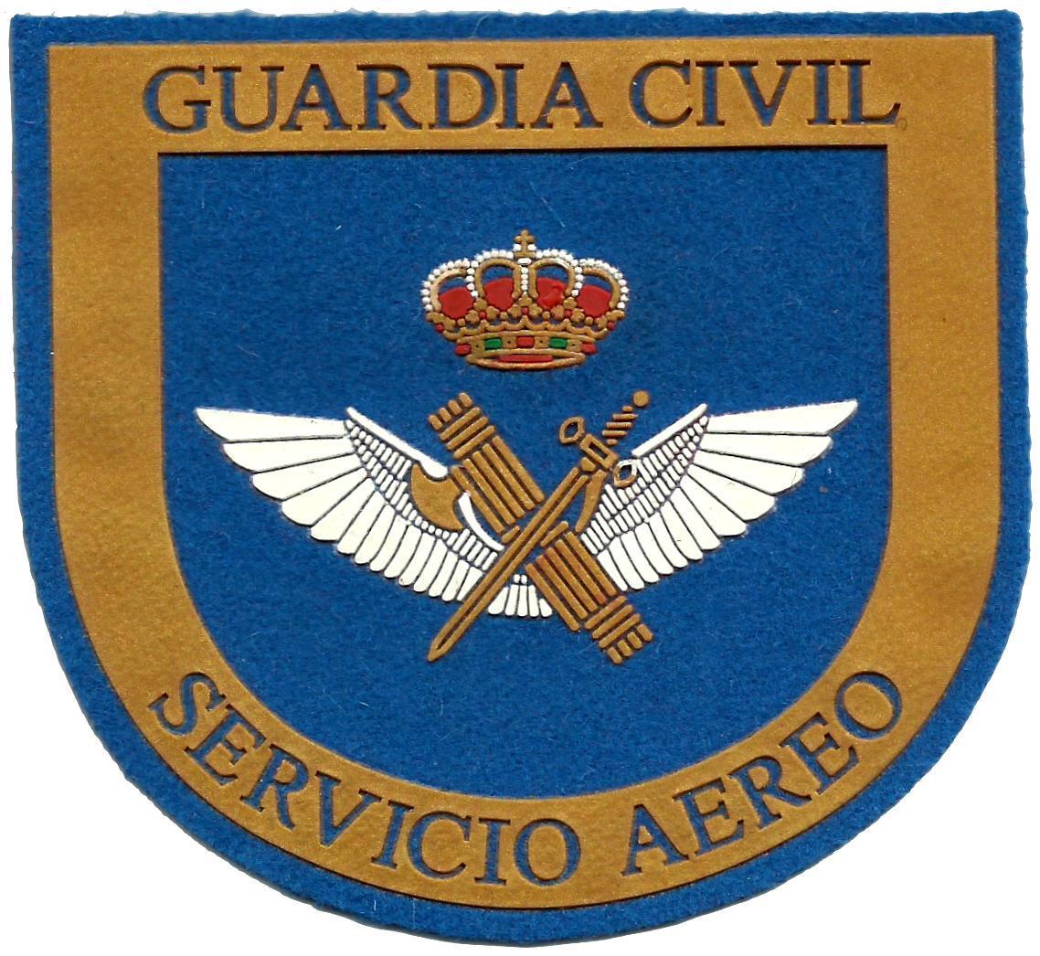 Guardia civil servicio aéreo parche insignia emblema distintivo