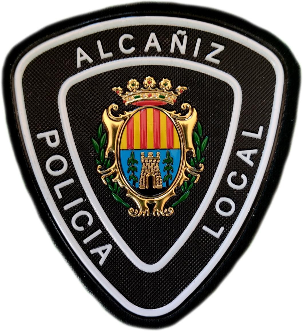 Policía Local Alcañiz Teruel parche insignia emblema distintivo