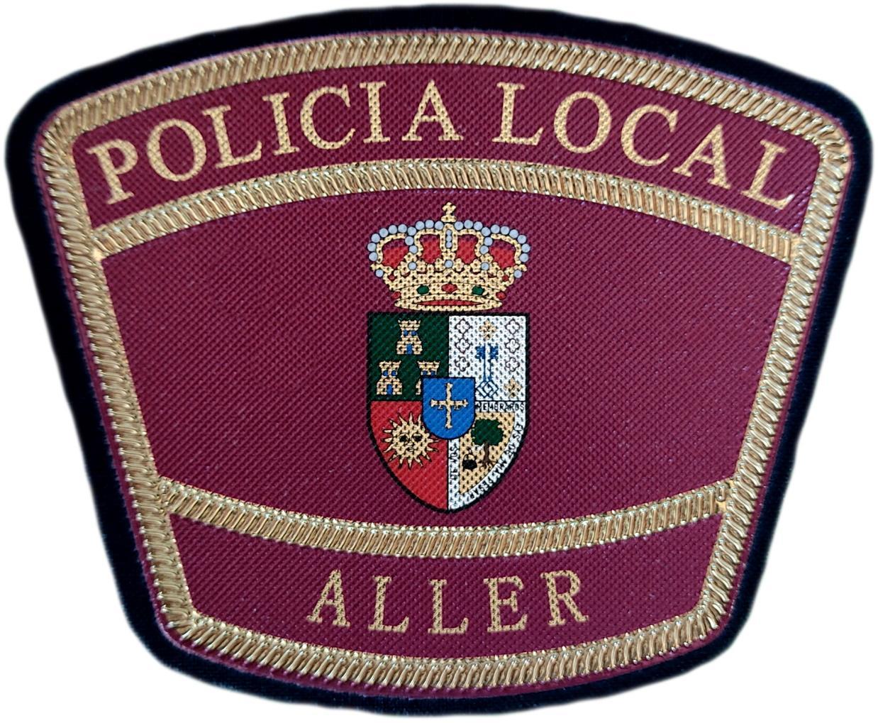 Policía Local Aller Asturias parche insignia emblema distintivo