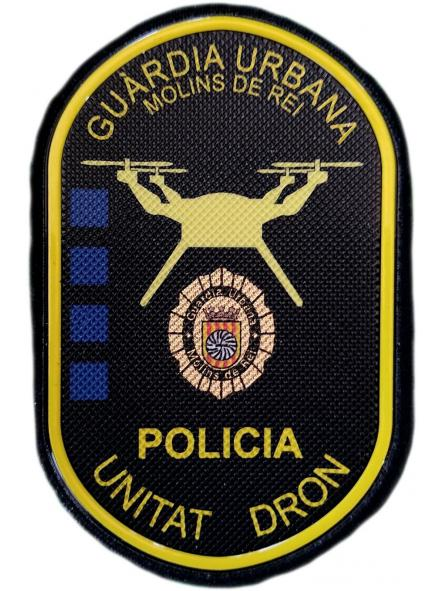 Guardia Urbana Molins de Rei Unidad Dron parche insignia emblema distintivo