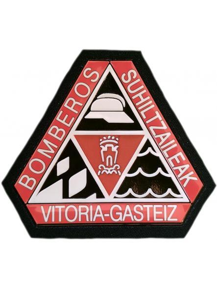 Bomberos de la ciudad de Vitoria Gasteiz Suhiltzaileak parche insignia emblema distintivo
