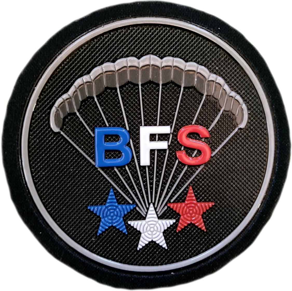 Ejercito Francia BFS Bureau Fuerzas Especiales Paracaidistas Bureau Forces Specials Parachutistes parche insignia emblema distintivo