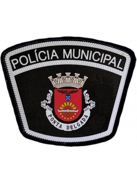 Policía Municipal Ciudad de Ponta Delgada Portugal parche insignia emblema distintivo [0]