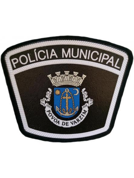 Policía Municipal Ciudad de Povoa de Varzim Portugal parche insignia emblema distintivo