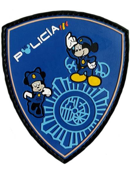 Policía Nacional CNP infantil Disney Mickey Minnie parche insignia emblema distintivo