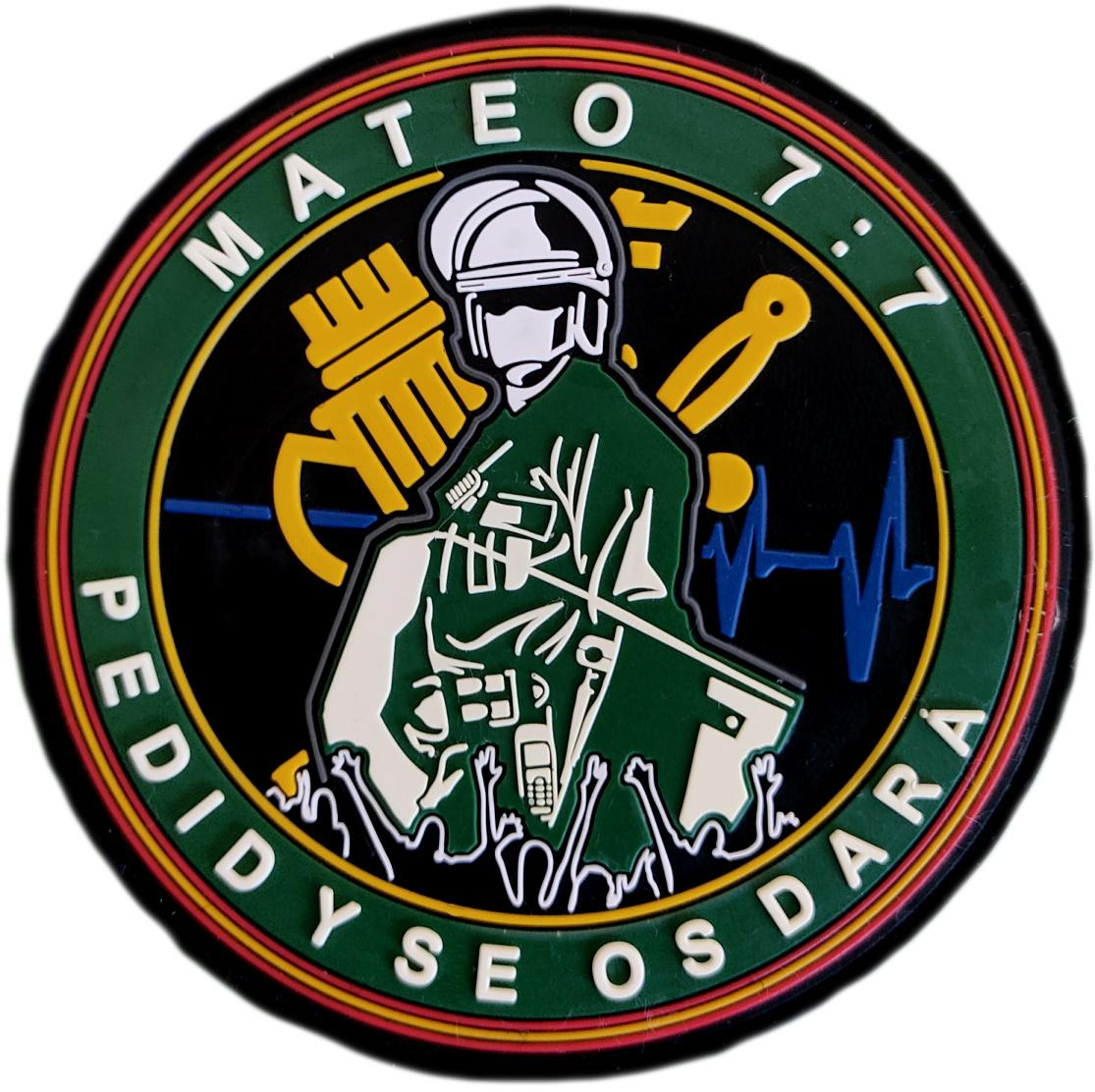 Guardia Civil Mateo 7:7 pedid y se os dará parche insignia emblema distintivo