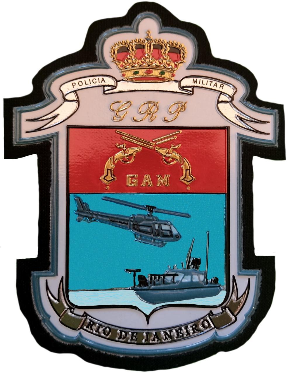 Policía Militar de Rio de Janeiro GAM Grupo Aéreo Móvil Grupamento aero movel parche insignia emblema distintivo