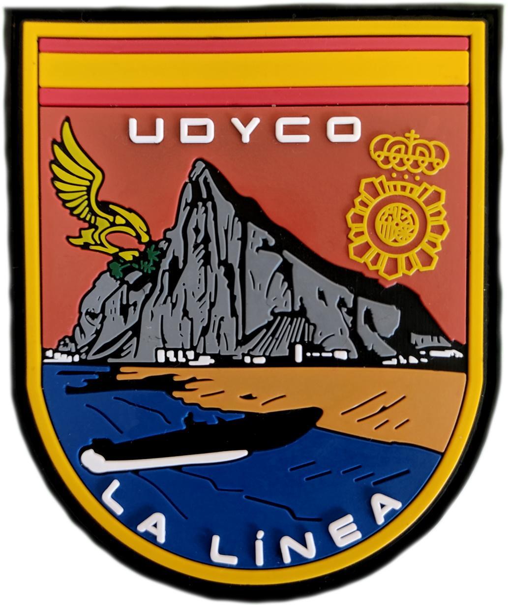 Policía Nacional CNP UDYCO La Línea de la Concepción parche insignia emblema distintivo