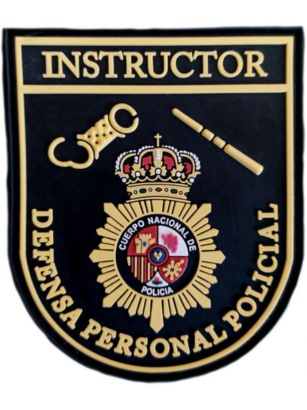Policía nacional CNP Instructor defensa personal policial parche insignia emblema distintivo