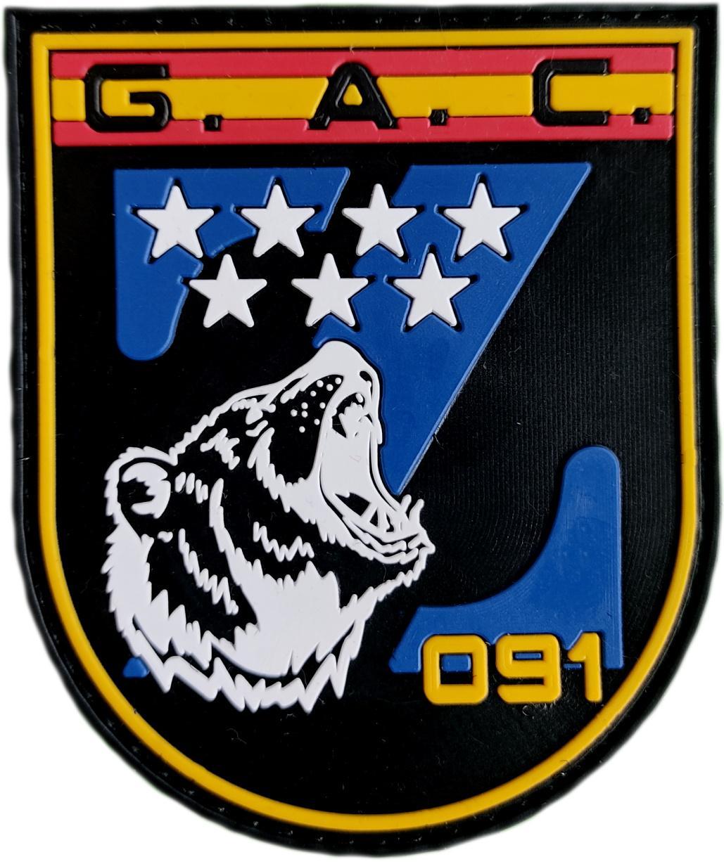 Policía Nacional CNP Grupo de Atención al Ciudadano GAC Z Comunidad de Madrid parche insignia emblema distintivo