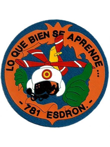 Ejército del aire escuadrón 781 parche insignia emblema distintivo