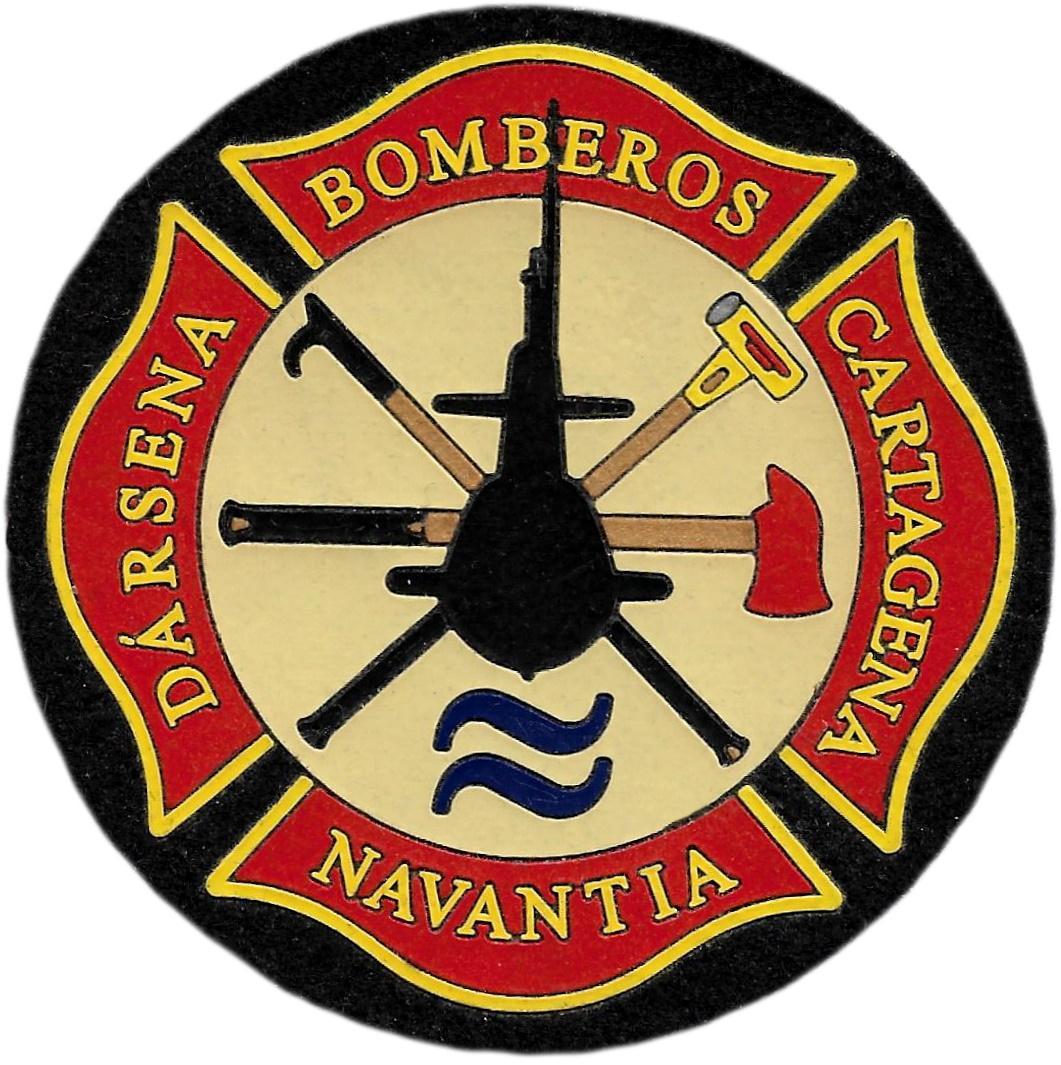 Bomberos Navantia dársena Cartagena parche insignia emblema distintivo