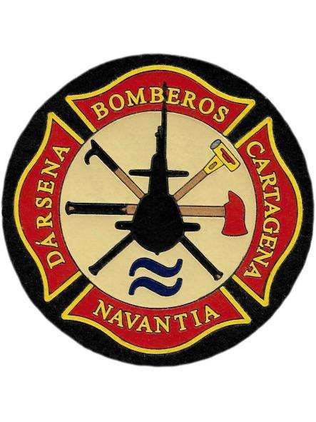 Bomberos Navantia dársena Cartagena parche insignia emblema distintivo [0]