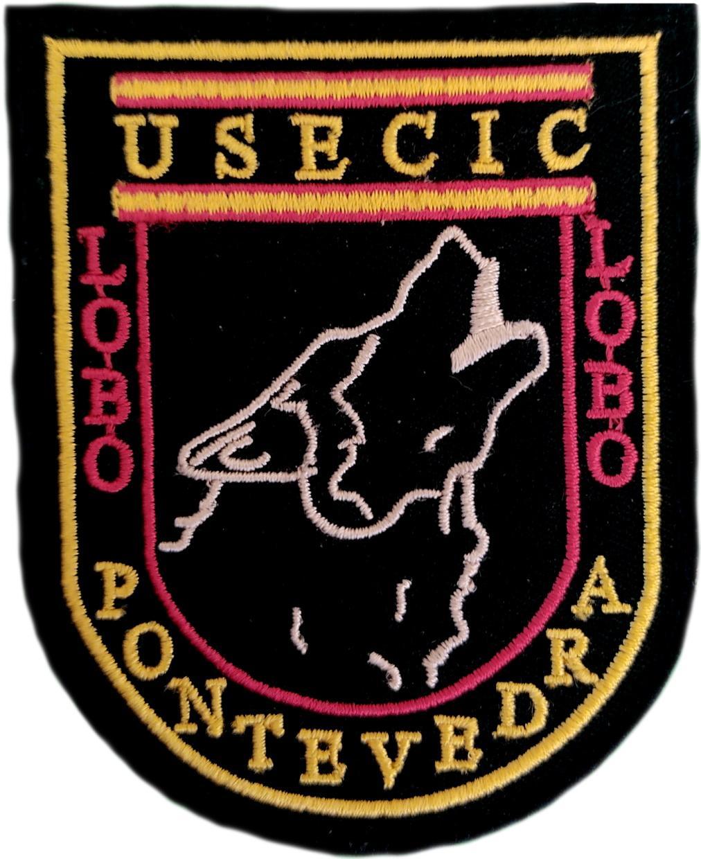 Guardia Civil Usecic Pontevedra parche insignia emblema distintivo bordado