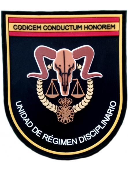 Policía nacional CNP unidad de régimen disciplinario parche insignia emblema distintivo