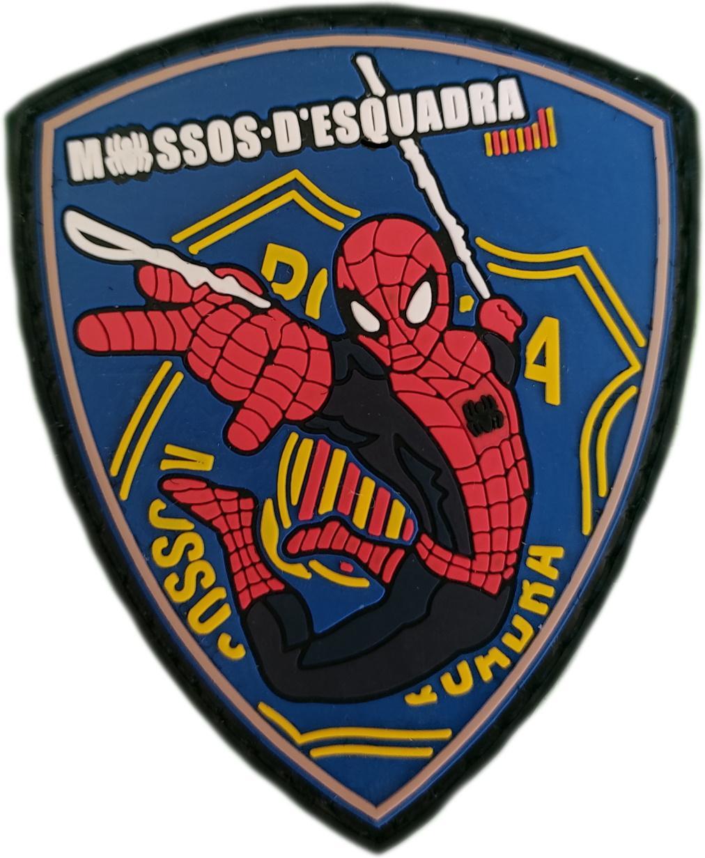 Policía Mossos d´esquadra infantil spiderman parche insignia emblema distintivo