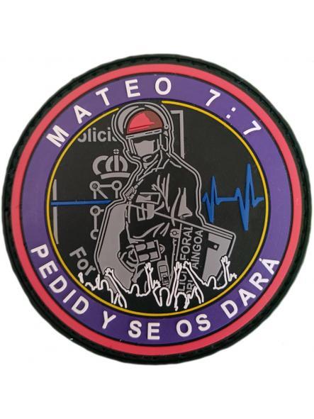 Policía Foral de Navarra Foruzaingoa Mateo 7:7 pedid y se os dará parche insignia emblema distintivo