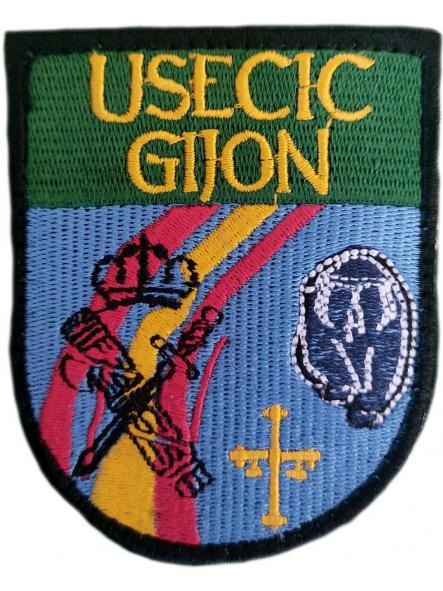 Guardia Civil Usecic Gijón parche insignia emblema distintivo bordado