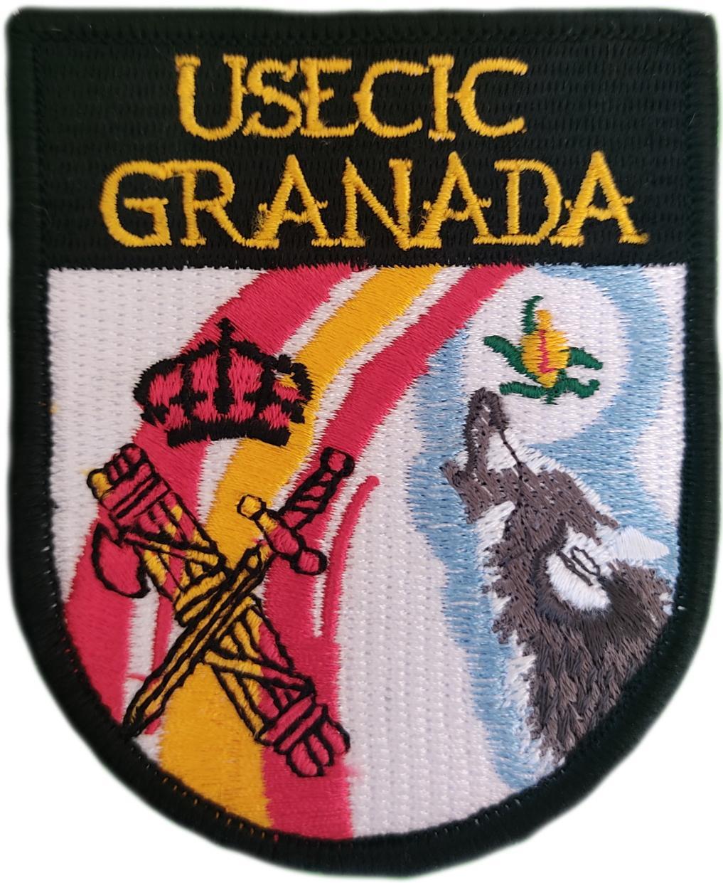 Guardia Civil Usecic Granada parche insignia emblema distintivo bordado
