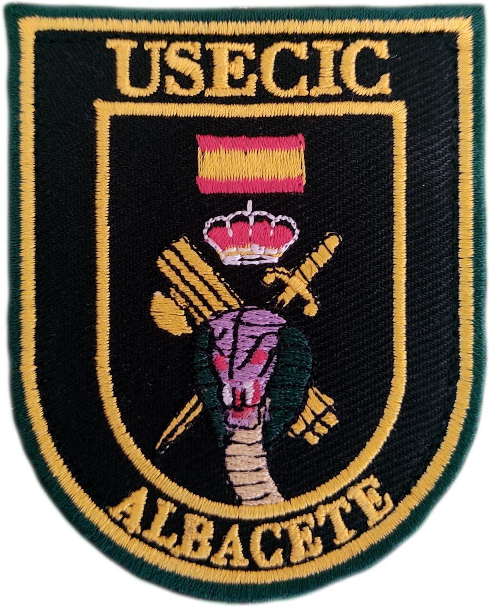 Guardia Civil Usecic Albacete parche insignia emblema distintivo bordado