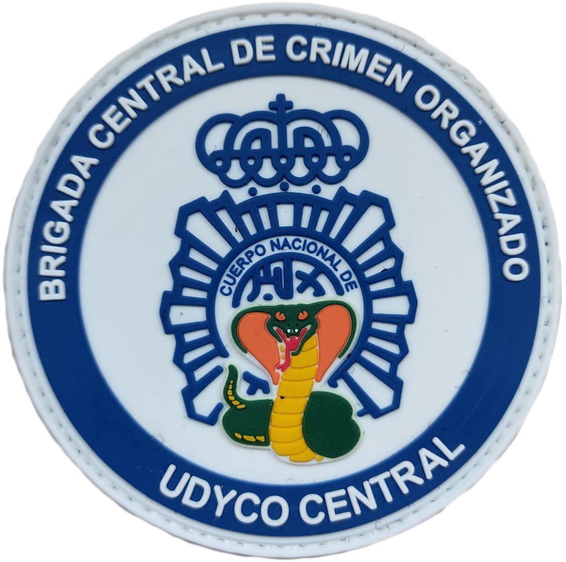 Policía Nacional CNP UDYCO Central Brigada central de crimen organizado parche insignia emblema distintivo