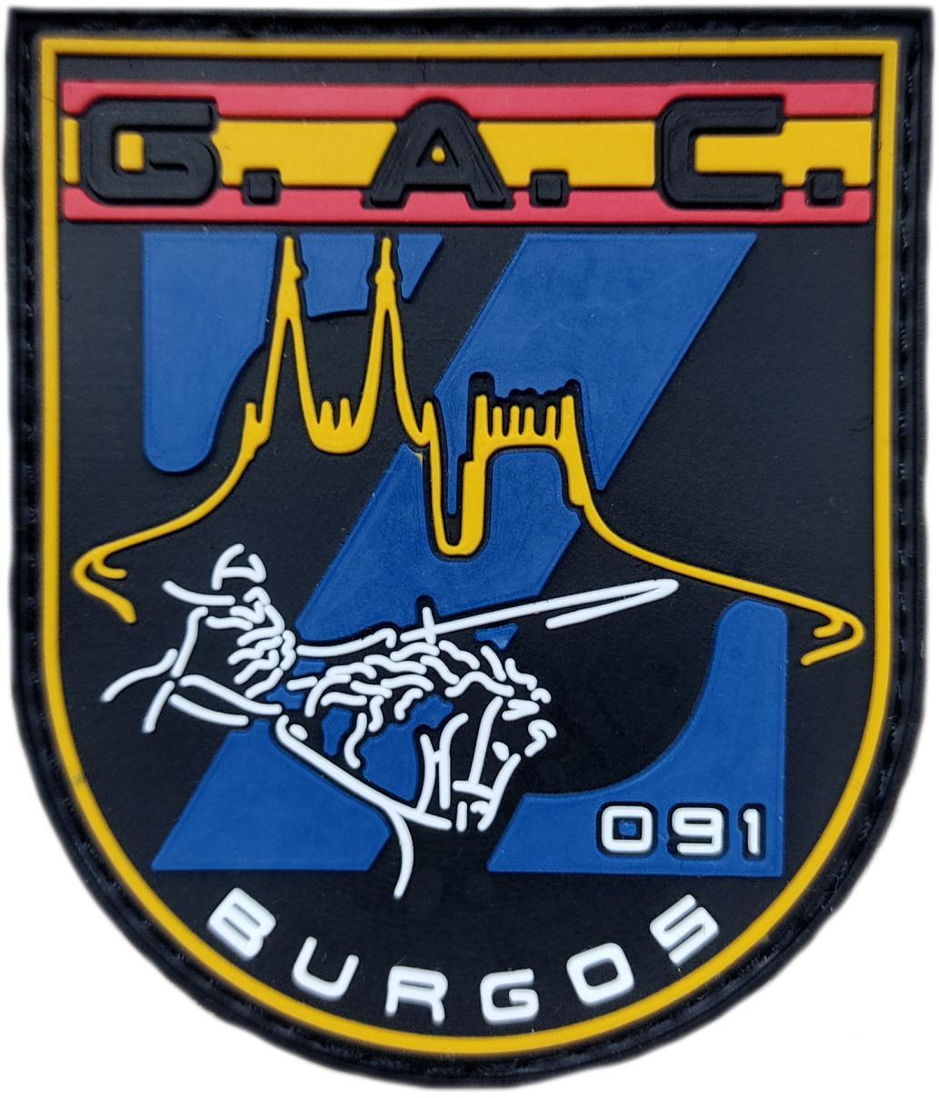 Policía Nacional CNP Grupo de Atención al Ciudadano GAC 091 Burgos Parche Insignia Emblema Distintivo