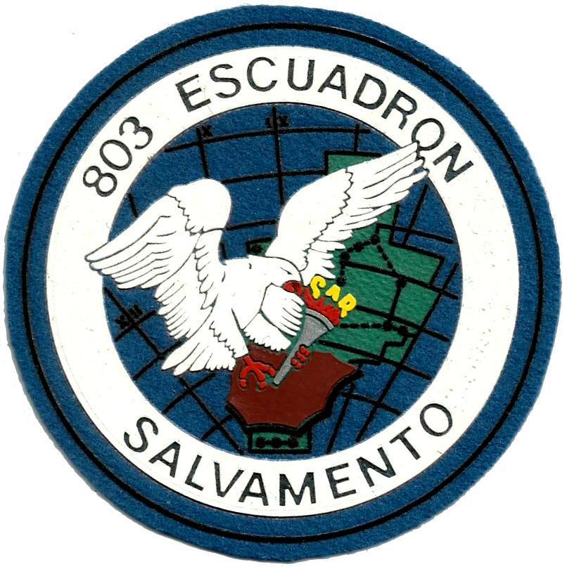 Ejército del aire escuadrón 803 parche, insignia, emblema, distintivo