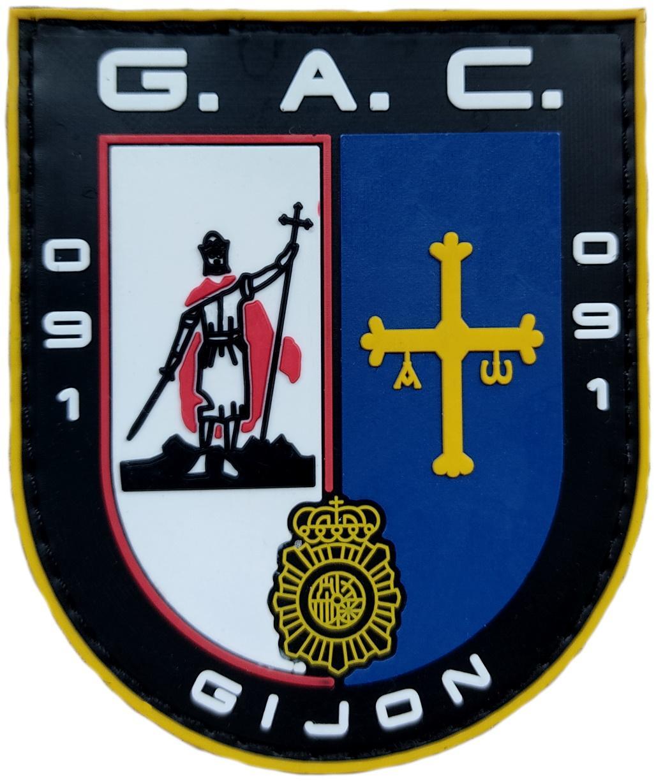 Policía Nacional CNP Grupo de Atención al Ciudadano GAC 091 Gijón Parche Insignia Emblema Distintivo