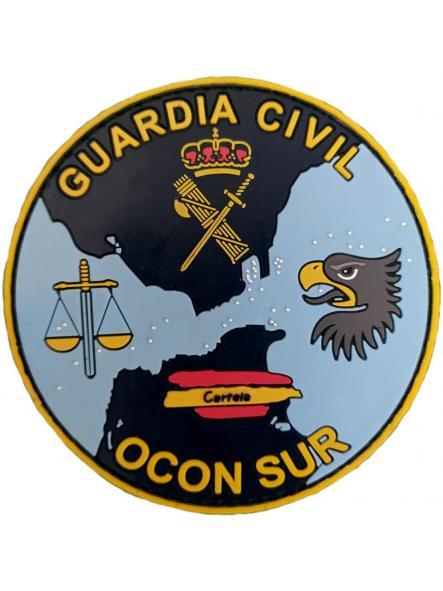 Guardia Civil Ocon sur Organización de coordinación anti drogas parche insignia emblema distintivo azul