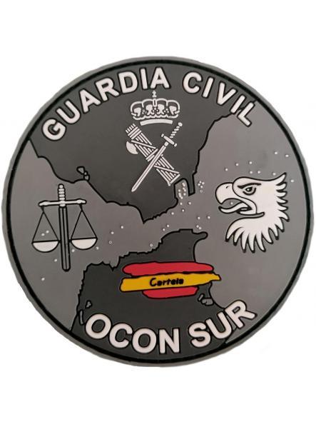 Guardia Civil Ocon sur Organización de coordinación anti drogas parche insignia emblema distintivo gris