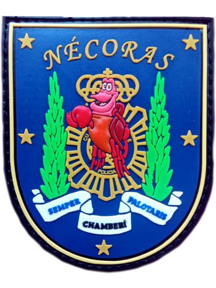 Policía Nacional CNP Comisaría Chamberí Nécoras Semper Palotaris parche insignia emblema distintivo