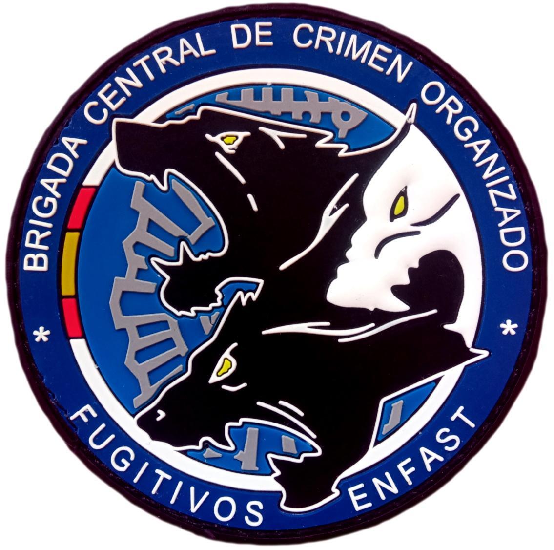 Policía Nacional CNP Fugitivos Enfast Brigada central de crimen organizado parche insignia emblema distintivo
