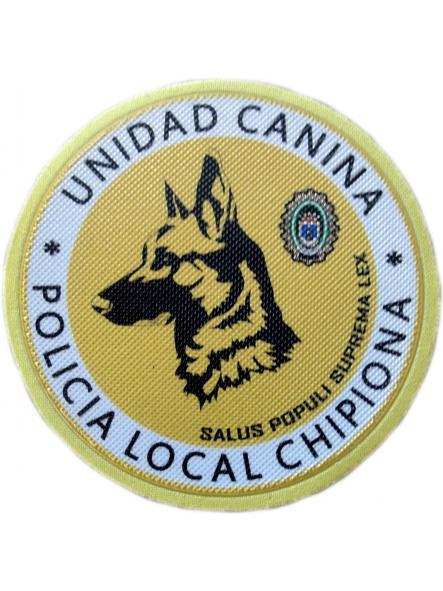 Policía Local Chipiona unidad canina k-9 parche insignia emblema distintivo