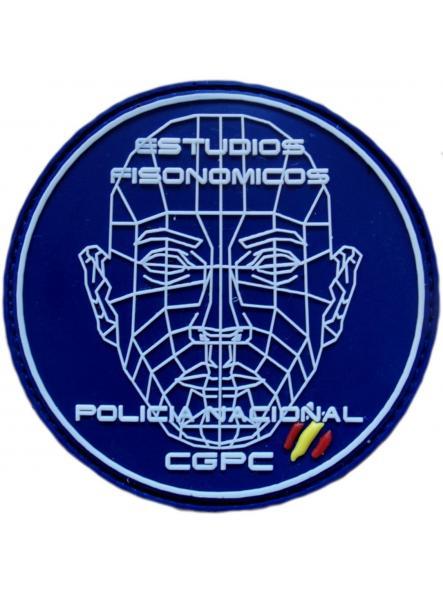 Policía Nacional CNP CGPC estudios fisonómicos parche insignia emblema distintivo