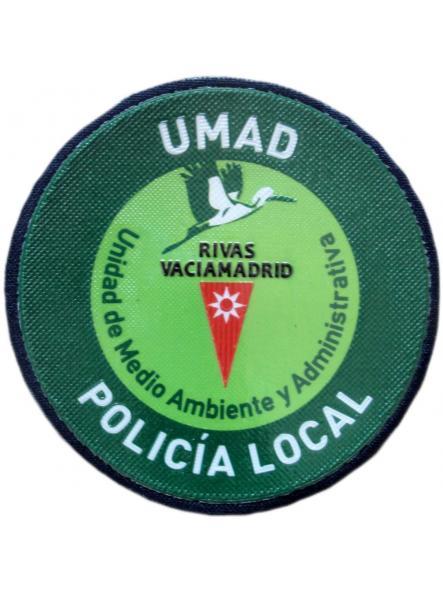 Policía Local Rivas Vaciamadrid UMAD Unidad Medio Ambiente y Administrativa parche insignia emblema distintivo