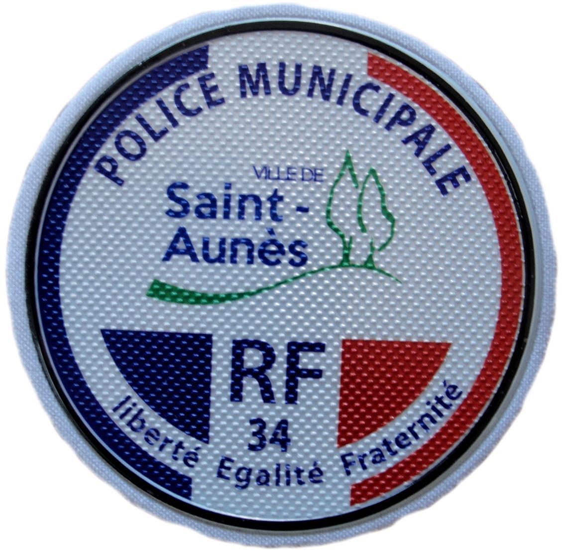 Policía Municipal Ville de Saint Aunés Police Municipale parche insignia emblema distintivo ecusson