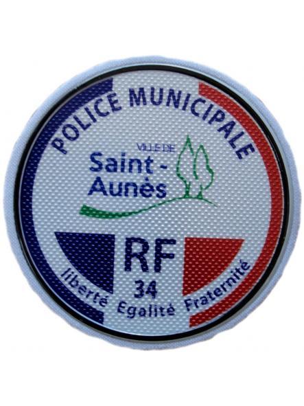 Policía Municipal Ville de Saint Aunés Police Municipale parche insignia emblema distintivo ecusson  [0]