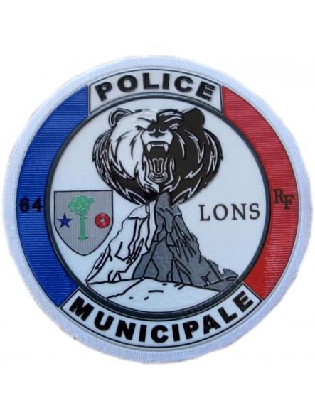 Policía Municipal Ville de Lons Police Municipale parche insignia emblema distintivo ecusson
