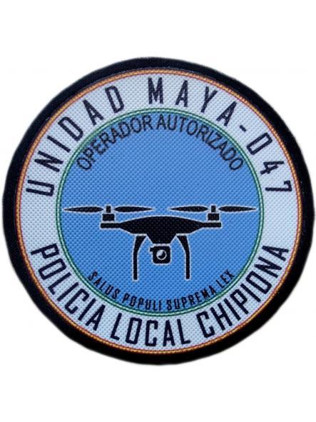 Policía Local Chipiona unidad maya drones parche insignia emblema distintivo