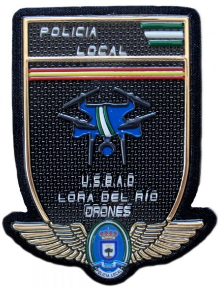 Policía Local Lora del Rio USBAD drones parche insignia emblema distintivo