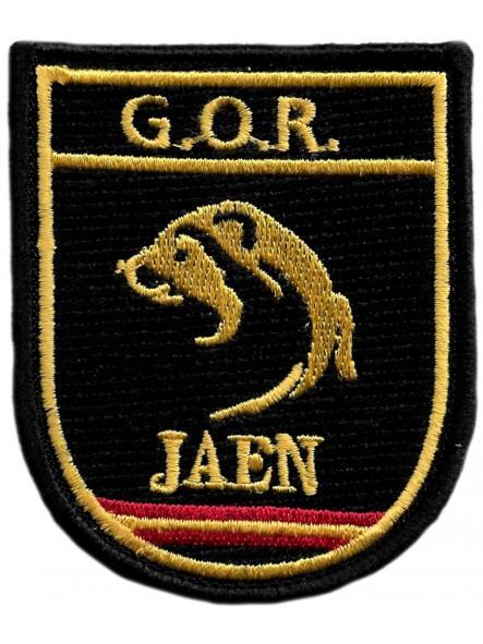 Policía Nacional CNP Grupo Operativo de Respuesta GOR Jaén parche insignia emblema distintivo