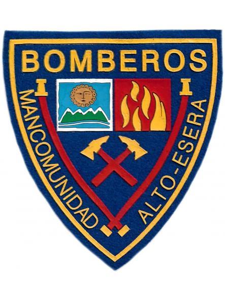 Bomberos de la mancomunidad del Alto Esera en Huesca parche insignia emblema distintivo