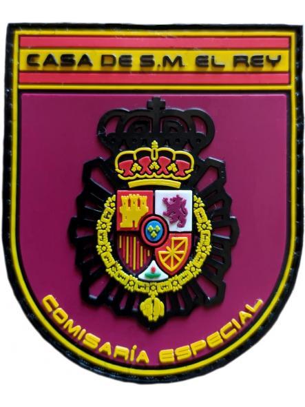 Policía Nacional CNP Comisaría Especial Casa de su Majestad el Rey parche insignia emblema distintivo