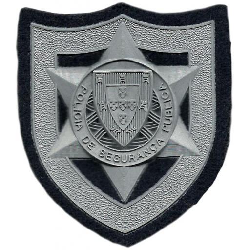 POLICÍA DE SEGURANÇA PÚBLICA DE PORTUGAL PARCHE DE PECHO PLATEADO INSIGNIA EMBLEMA